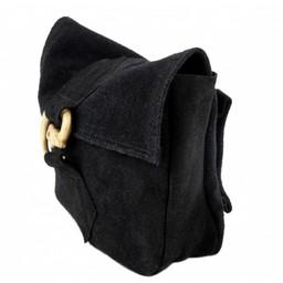 Tasche mit Wolf Schnalle, schwarz