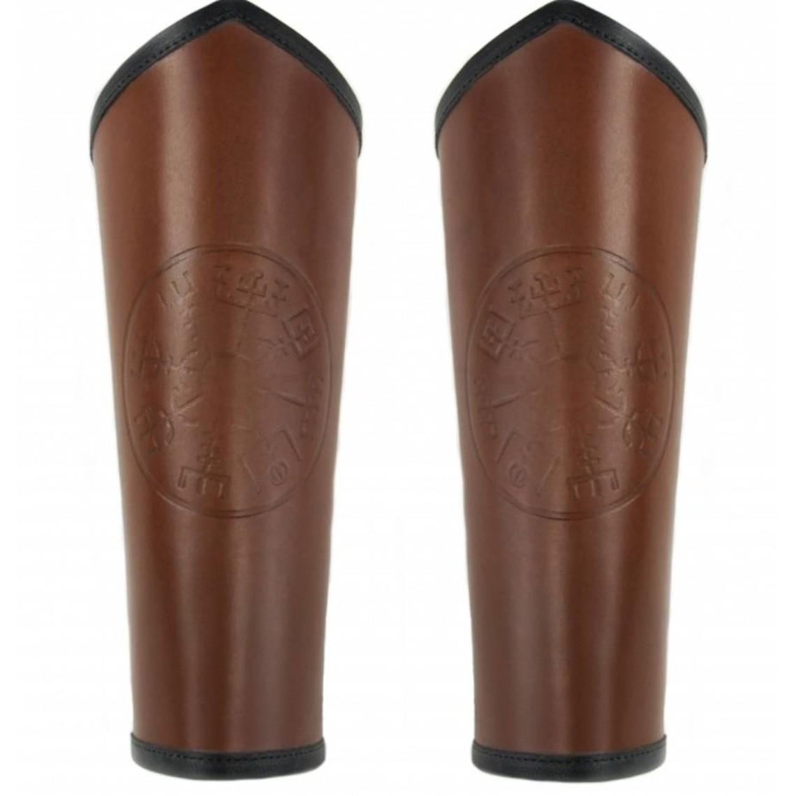 Leonardo Carbone Armbeschermers Vegvisir, bruin