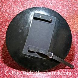 LARP round shield black/red