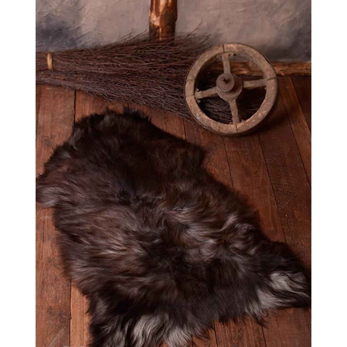 Peau de mouton nordique, noir