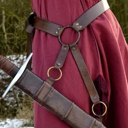 Traditioneel middeleeuwse zwaardriem