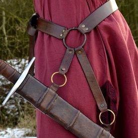 Deepeeka Cintura per spada medievale tradizionale
