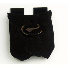 Bolso de correa espiral, negro