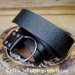 Ring Gürtel mit keltischen Knoten, schwarz