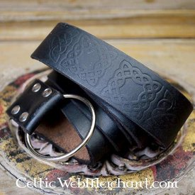 Ring belt with Celtic knot, black