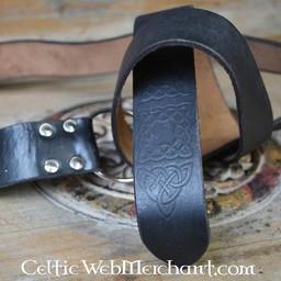 Ring belt with Celtic knot, black