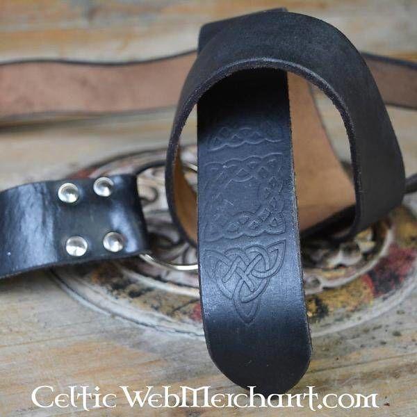 Anillo cinturón con nudo celta, negro
