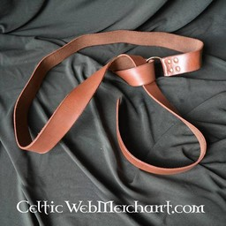 Ring belt with Celtic knot, brown