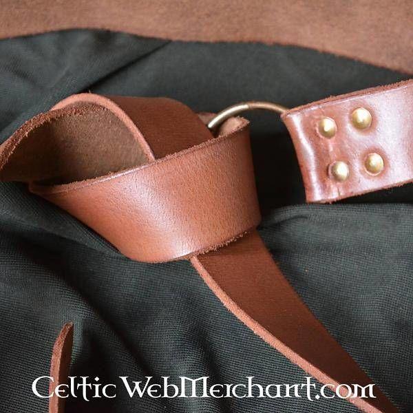 Ceinture avec noeud celtique, marron