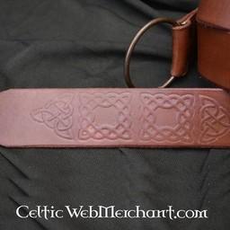 Ring Gürtel mit keltischen Knoten, braun
