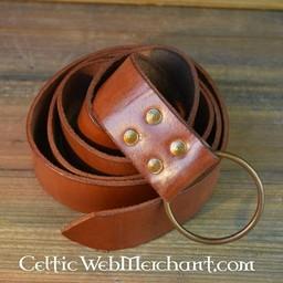 Ringen bälte, 150 cm, brun