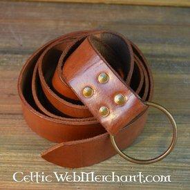Ring bælte, 150 cm, brun