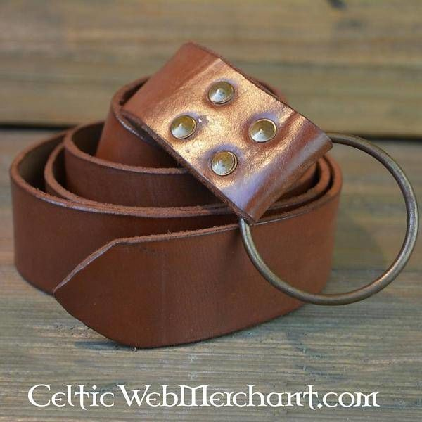 Ring belt, 150 cm, brown