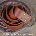 Leonardo Carbone Cintura ad anello, 150 cm, marrone
