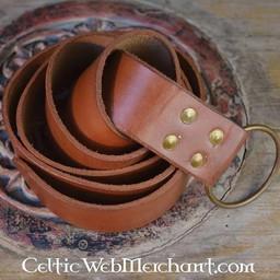 Riem met ringsluiting, 150 cm, bruin