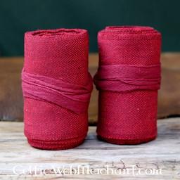 Owijki nóg z motywem jodełki, czerwony