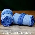 Beenwindsels met visgraatmotief, blauw
