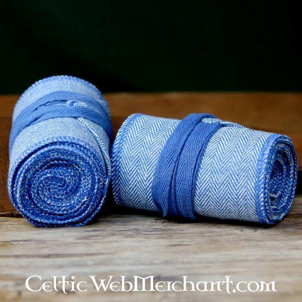 Owijki nóg z motywem jodełki, niebieski