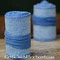 Envolturas para las piernas con motivo de espiga, azul
