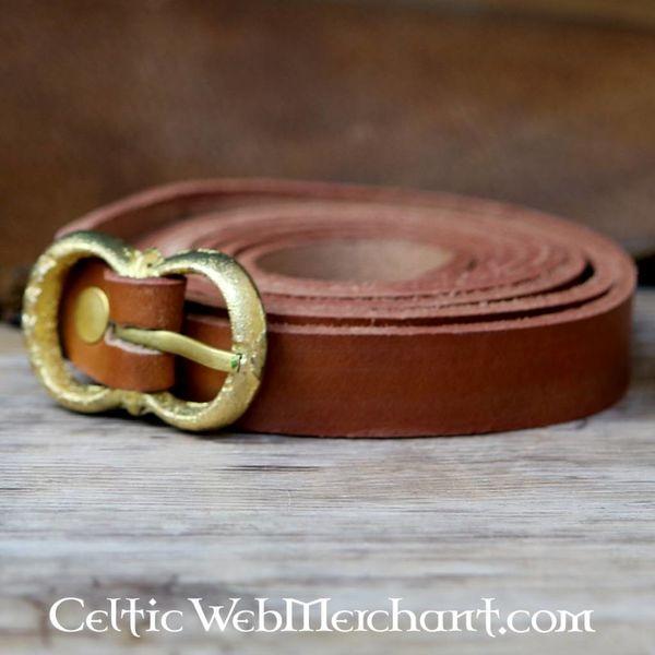 Leonardo Carbone Brown leather belt 2 cm