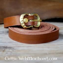 Cinturón de cuero marrón 2 cm