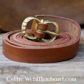 Brun læderbælte 2 cm