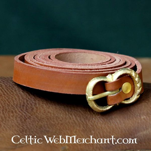 Leonardo Carbone Brunt läderbälte 2 cm