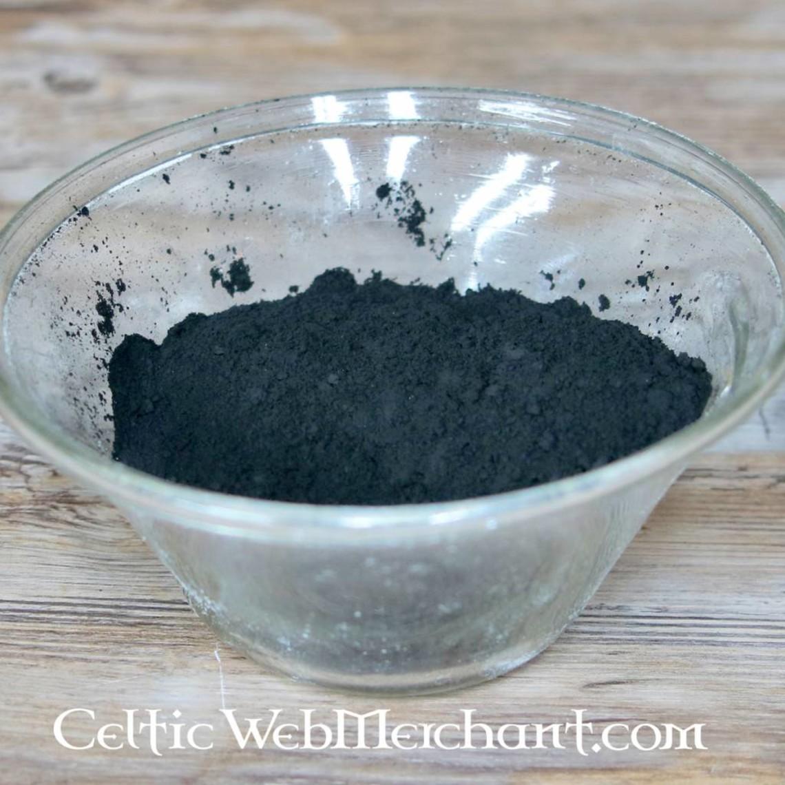 Hueso, pigmento negro de marfil 100 gramos