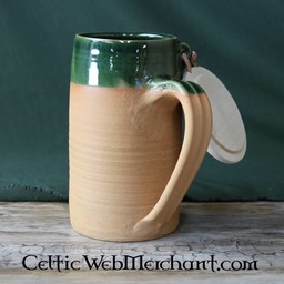 Historical Beer Mug, 0.5l with wooden cap