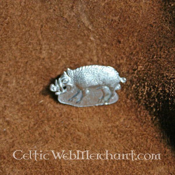 Middeleeuwse badge wild zwijn