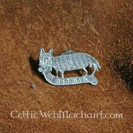 Distintivo medievale gatto e topo