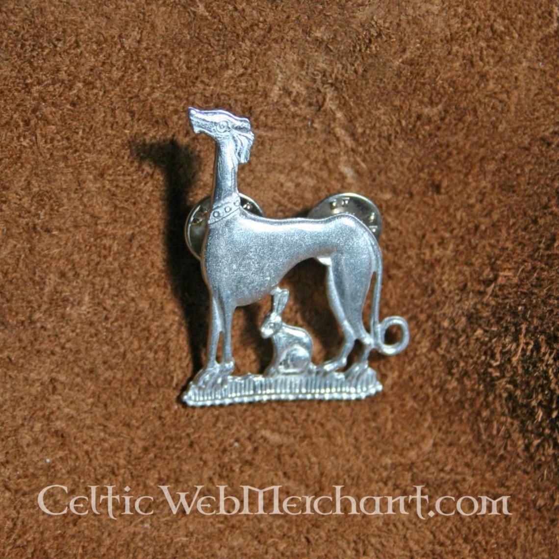 Middeleeuwse badge haas & hond
