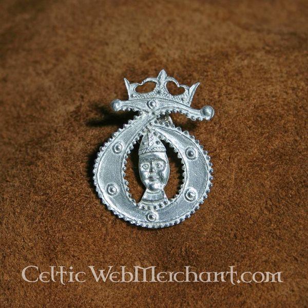 Middeleeuwse T badge