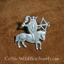 14th century gothic brooch, bronze