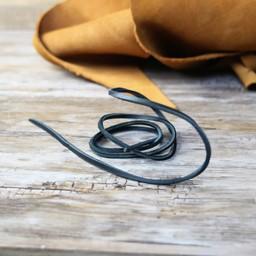 Cordón de cuero negro, 130 cm
