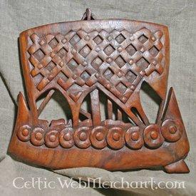 navio Viking de madeira