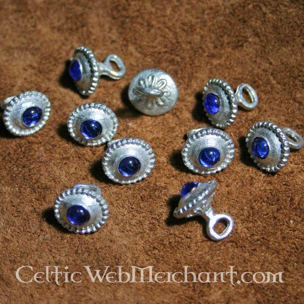 Set med 10 romanska knappar 1230-1260