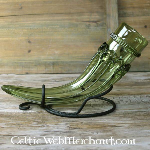 Anglo-Saxon szklany róg do picia