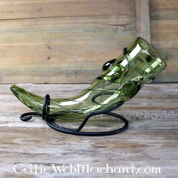 Romersk glas drikkehorn
