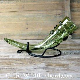 Tidligt middelalderligt glas drikkerhorn
