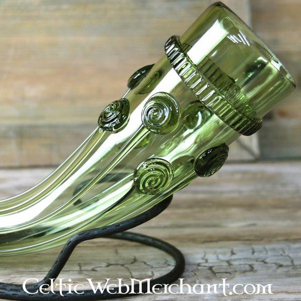 Vroeg-Middeleeuwse glazen drinkhoorn