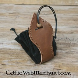 Luxurious suede leather pouch