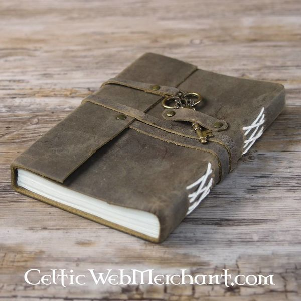 House of Warfare Leather book with key