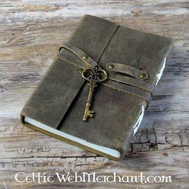 House of Warfare Livro de couro com chave