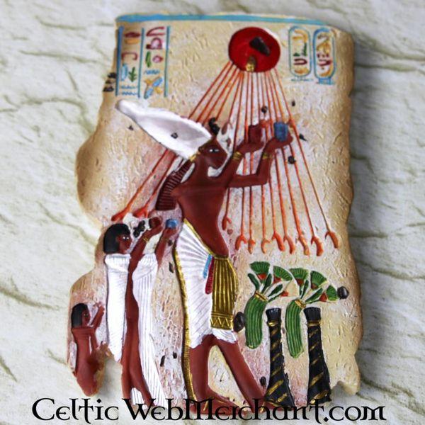 Egipska płaskorzeźba Echnatona