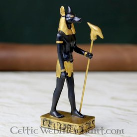 Egyptisk statyett guden Anubis