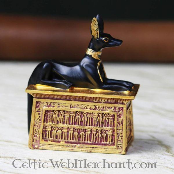 Egyptisch beeldje Anubis, afgebeeld als jakhals