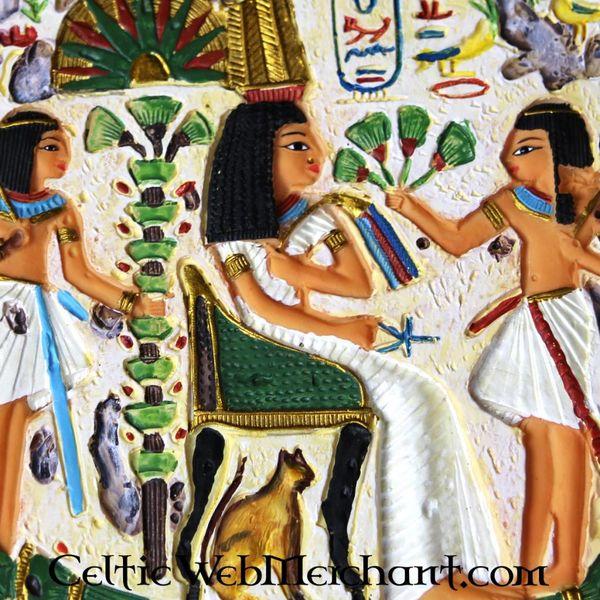 Sollievo egiziano, regina Nefertari, tempio di Nefertari, Cisgiordania di Tebe