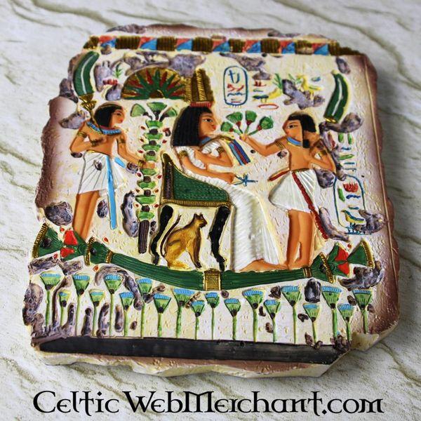 Egyptisch relief, koningin Nefertari, tempel van Nefertari, westbank van Thebe
