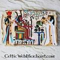 Alivio egipcio Faraón Ramsés III, templo de Medinet Habu